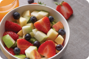 Bowl of fruit salad